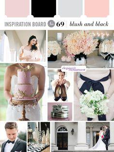 Blush and Black wedding inspiration