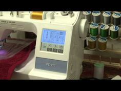 Brother PE 770 Towel Embroidery(1/2). I am showing how I embroider on a hand towel using 2 types of stabilizer. Watch the two parts for the completed towel.