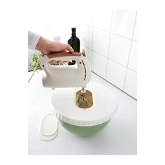 ALLEHANDA Mixing bowl with lid IKEA The lid has an opening with room for a whisk, which reduces splatter when whisking.