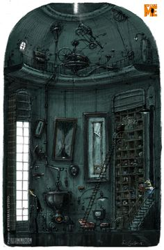 eric guillon _Despicable Me - GRU'S house