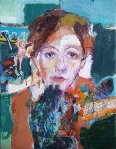 """the angel,"" original figurative painting by artist Fotini Hamidieli (Greece) available at Saatchi Art Figure Painting, Painting & Drawing, Greece Painting, Joy And Sadness, Making Faces, Art Programs, Portrait Art, Portraits, Teaching Art"