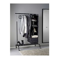 RIGGA Riel con soporte, negro - - - IKEA