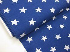 Stoff Sterne - Jersey, Sterne, royalblau ♥ 0,5m x 1,4m - ein Designerstück von Schwesterlich bei DaWanda
