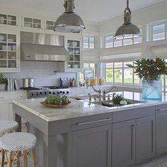 Gray Kitchen Island, Cottage, kitchen, Urban Grace Interiors
