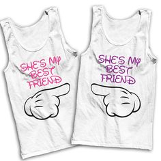 She's My Best Friend Best Friends Tees by AwesomeBestFriendsTs (Best Friend Shirts) Best Friend Outfits, Best Friend Shirts, Best Friend Goals, My Best Friend, Friends Shirts, Bff Shirts, Cool Shirts, Disneyland Trip, Disney Trips