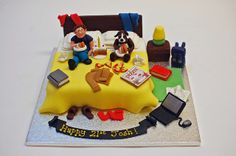 The messy bedroom Cake
