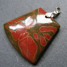 Pendant in Sterling Silver with a Beautiful Picasso Jasper Gemstone £15.00