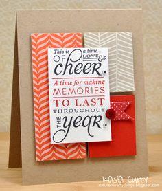 kraft card ... like the blocks of designer paper with sentiment block on top ...