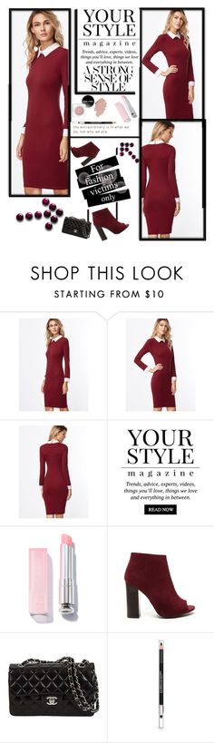 """""""Fashion Dress style"""" by dream-a-wish ❤ liked on Polyvore featuring Pussycat and The Body Shop"""