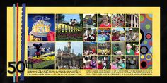 tips for scrapping disney - Disney layout using multiple pictures.