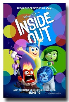 . #InsideOut #InsideOutPoster available at  http://concertposter.org/inside-out-movie-promo-flyer-poster-pixar-disney-animated-main-film/
