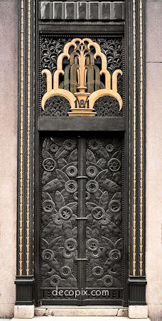 Entrance, Cheney Brothers Bldg., NYC  Art Deco.