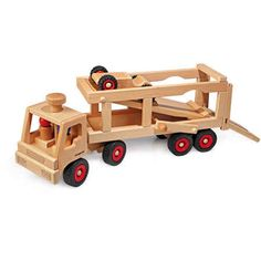 Car Transporter (Fagus) | Cars & Trucks | WOODEN TOYS | TheWoodenWagon