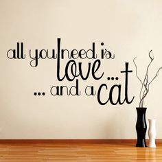 Love & Cats - Wall Decal, Pets on Etsy, $19.99