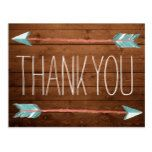Rustic Adorned with Arrows | Thank You Postcard