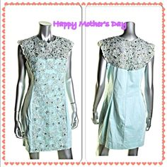 FRENCH CONNECTION Blue Sequined  Party Cocktail FRENCH CONNECTION Blue Sequined Sleeveless Party Cocktail Dress. Manufacturer: French Connection Manufacturer Color: Tea Tree Retail: $298.00 Condition: New with tags Style Type: Cocktail Dress Collection: French Connection Silhouette: Sheath Sleeve Length: Sleeveless Closure: Hidden Back Zipper Dress Length: Above Knee, Mini Total Length: 34 Inches Bust Across: Inches Waist Across: 14 Inches Hips Across: Inches Material: 98% Cotton/2% Elastane…