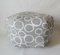 18 Ottoman Pouf Floor Pillow White Grey Elephant by aletafae, $95.00 ...
