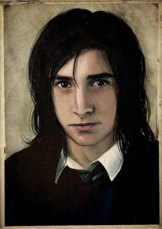 Severus Snape a drawing done by Sikuriina. I think its kinda perfect, because this is more or less how I imagined him as a teen in the books.