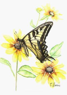 Butterfly by Earthspalette - Print - Etsy $ 12.00