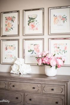 Wall Ideas: Cozy Glam Bedroom Wall Decor Find This Pin And Wall Ideas: Glam Wall Decor Design Floral Bedroom Decor, Glam Bedroom, Shabby Chic Bedrooms, Bedroom Wall, Bedroom Ideas, Master Bedroom, Floral Theme, Floral Wall, Floral Fabric