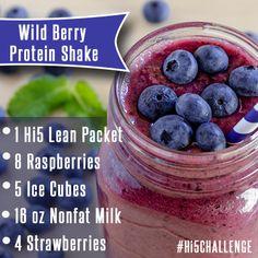 Wild Berry Protein Shake #recipe #fruitshake #proteinshake