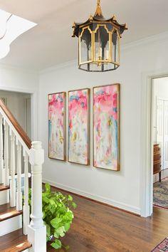 59 Super Ideas For Wall Decored Long Hallway Foyers Entryway Wall, Hallway Art, Dark Hallway, Modern Hallway, Deco Addict, Room Decor, Wall Decor, Interior Decorating, Interior Design
