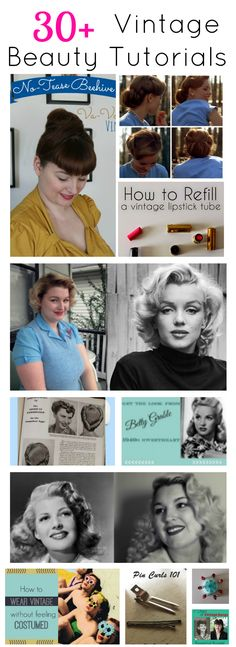 30+ vintage hair and makeup beauty tutorials