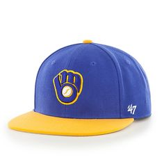 9708416a9fe Milwaukee Brewers Lil Shot Two Tone Captain Royal 47 Brand YOUTH Hat