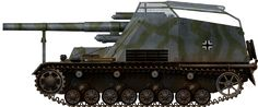 Early version Hummel SPG with wire mesh protective roof Summer 1943