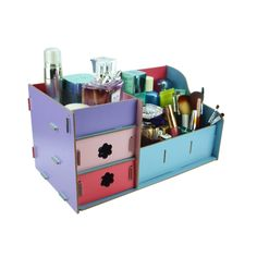 DIY Bathroom Organization Ideas - Inexpensive Makeup and Jewelry Organizer Kit Easy to Put Together and available in your choice of colors