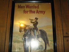 Men wanted for the army recruiting poster by MuddyRiverIronWorks, $45.00