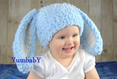 Bunny Hats Blue Fluffy Easter Bunny Hat Rabbit Ears Beanie with Floppy Ears door YumbabY op Etsy https://www.etsy.com/nl/listing/225857360/bunny-hats-blue-fluffy-easter-bunny-hat