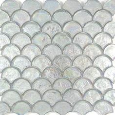 Glacier glass collection at Perini Tiles. Features an array of mosaic patterns and colours Mosaic Glass, Mosaic Tiles, Wall Tiles, Mosaics, Scallop Tiles, Tile Suppliers, Fish Scales, Diy House Projects, Handmade Tiles