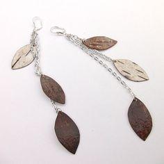 Birch bark earrings White silver white by bettula on Etsy, $42.00