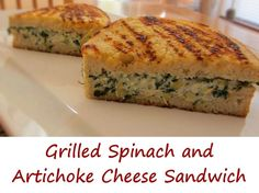 After hearing that one of the sandwiches that the Serendipity food truck serves is based on a spinach and artichoke dip, I took it as a challenge to take my spinach and artichoke dip and make it into a grilled cheese sandwich. And oh, what a happy day it was. This grilled spinach and artichoke cheese sandwich combines a great cheesy dip with grilled sourdough bread. The result is gooey and savory, a perfect change from the ole traditional grilled cheese sandwich.
