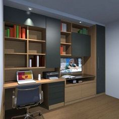 Unique And Comfortable Home Office Design Ideas Small Home Offices, Home Office Space, Home Office Design, Home Office Decor, House Design, Home Decor, Study Table Designs, Study Rooms, Study Office