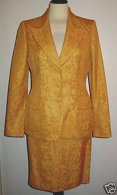 * * * Georges RECH Kostüm ockergelb, Gr.F36-38/D34-36 * * * Blazer, Jackets, Ebay, Women, Fashion, Clothing Accessories, Fashion Women, Down Jackets, Moda