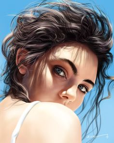 Kai Fine Art is an art website, shows painting and illustration works all over the world. L'art Du Portrait, Digital Portrait, Creation Photo, Digital Art Girl, Character Portraits, Character Art, Illustration Girl, Art Drawings Sketches, Amazing Art