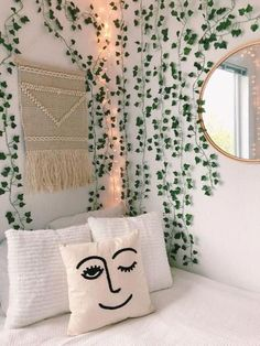 10 Dorm Decorations You Need To Make Your Room Into A Garden Oasis – – A mix of mid-century modern, bohemian, and industrial interior style. Home and apartment decor, decoration ideas, home. Living Room Designs, Living Room Decor, Bedroom Decor, Design Bedroom, Dining Room, Modern Bedroom, Bedroom Ideas, Master Bedroom, Decor Room
