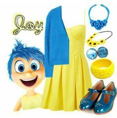 Deluxe Adult Inside Out Joy Costume | Inside Out and Costumes