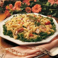 Salmon Pasta Salad Recipe -This recipe was one of my husband's favorite ways to enjoy salmon. I've had it so long I don't even remember where it came from originally. This salad is a nice light meal for a hot summer day, and it lets the salmon flavor come through. -Mary Dennis, Bryan, Ohio