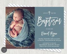 Baby Boy Or Baptism Christening Invitations Diy Invitation For Boys
