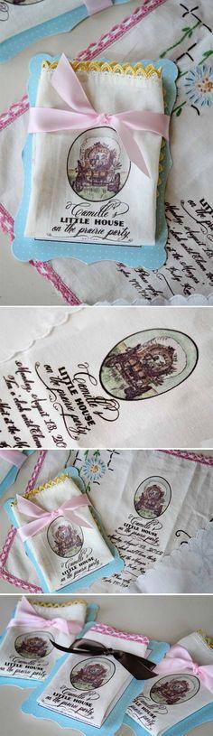 Loralee Lewis Handkerchief Little House on the  Prairie Invitation