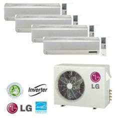 Where can LG ductless heat pumps be purchased online?
