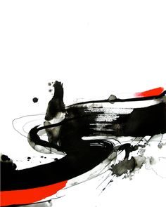 Sumi-e - &qout; : style of brush painting Japan. Linked with Zen Buddhism, calligraphy, sumi-e reflects simplicity of thought, action, & form. Abstract Expressionism, Abstract Art, Abstract Paintings, Art Paintings, Painting Art, Watercolor Painting, Landscape Paintings, Henne Tattoo, Blue Artwork