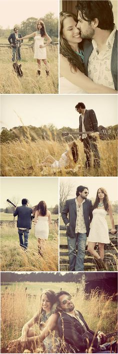 Engagement photos with a hippie feel to it. Love!