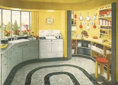 1940s Home Style: 1940s Kitchen Style