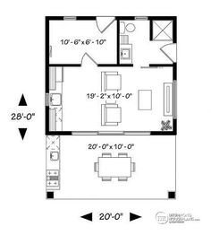 1st level Pool house plan or cabana house plan, shower room, outdoor kitchen, large covered terrace, storage  - Cabana Tiny House Plans, Pool House Plans, Small Pool Houses, Small Pools, Tiny Houses, Pool House Designs, Small House Design, Outdoor Landscaping, Outdoor Sheds