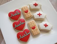 Nurse Cookies 24 Two Dozen by OldTimeFavorites on Etsy