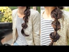 Easy everyday hairstyle, braid, side braid, easy hairstyle